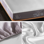 19 Momme Violet Single Side Mulberry Silk Fitted Sheet& Pillowcase Set、Real Silk Life