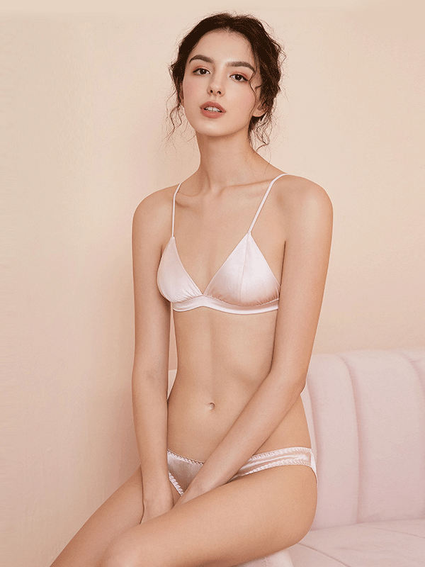 Silk French Sexy Bralette (Multi-Color Selected)、Real Silk Life