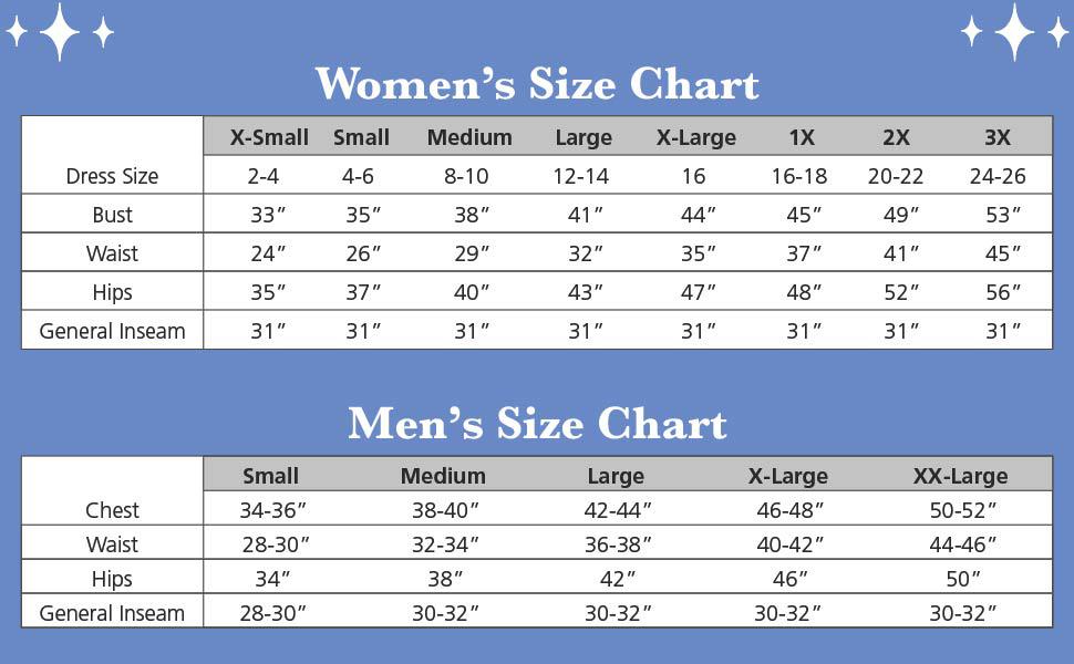 size charats