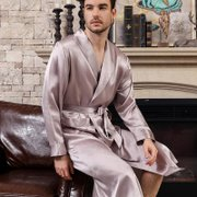 22 Momme High Quality Silk Robe for Men、Real Silk Life