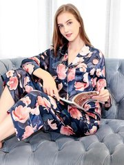 2020 New Collection 19 Momme Purple Printed Silk Pajamas Set、REAL SILK LIFE