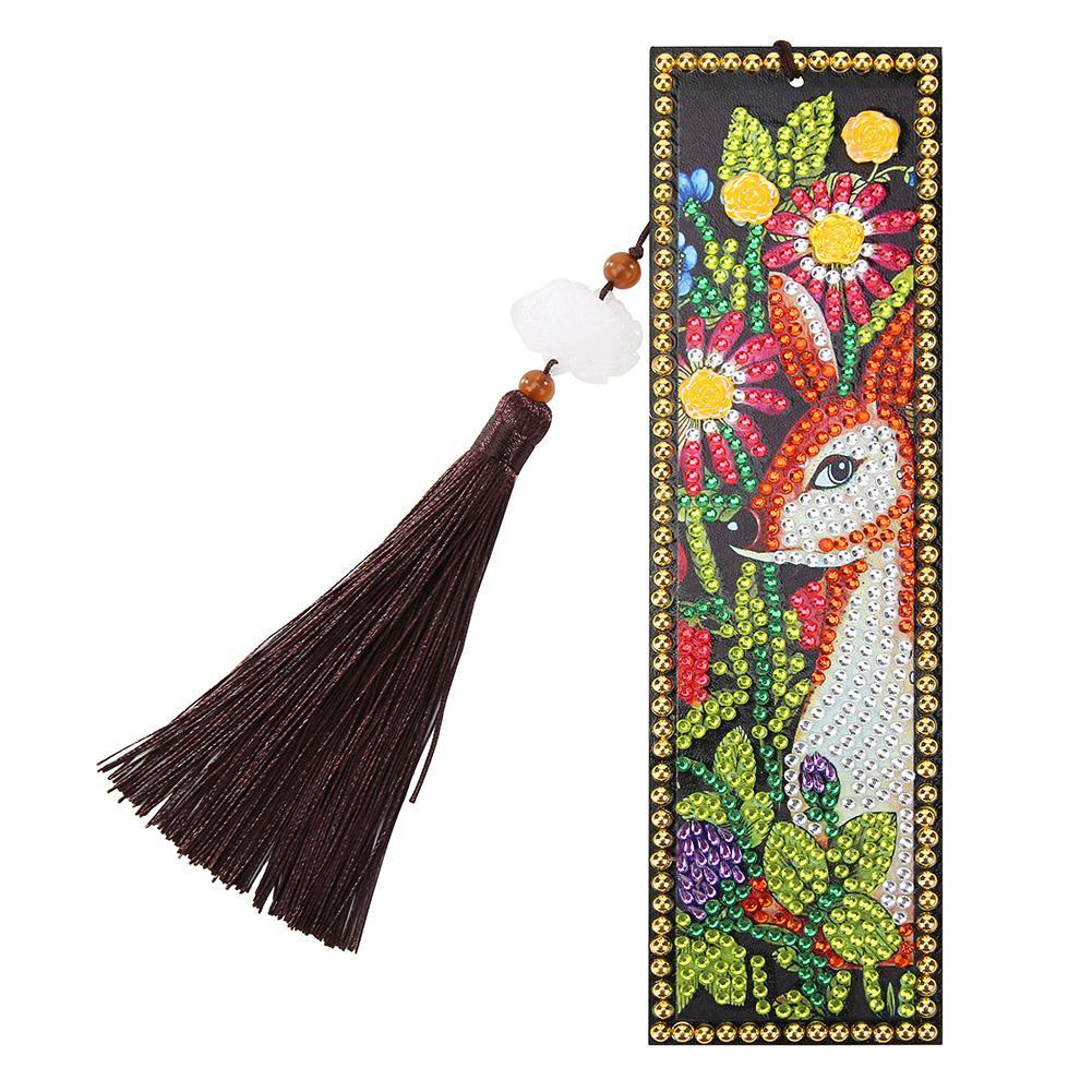 Peggybuy coupon: Deer Flowers-DIY Creative Diamond Tassel Bookmark