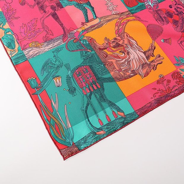 Women Twill Big 100% Silk Scarf、REAL SILK LIFE