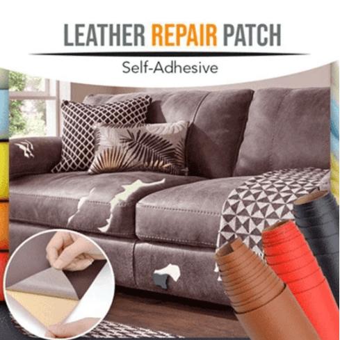 PU Leather Self-adhesive Patch Sticker Sofa Cloth Car Seat Tear Cut Repair Tool
