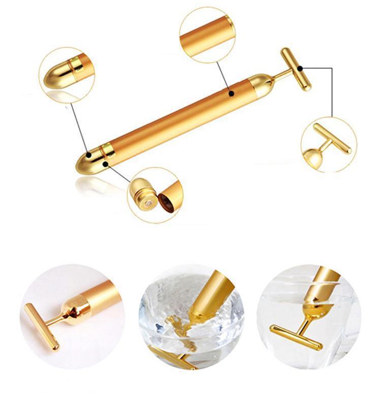 24K Gold Energy Beauty Bar Roller