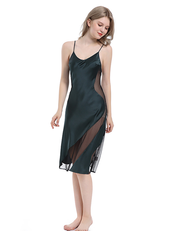 Classic V Neck Silk Nightgown| Multi-Colors Selected、Luxury Silk Life