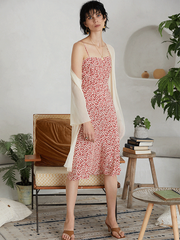 Flora Pink Slip Silk Dress、Real Silk Life