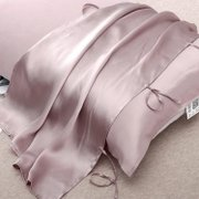 Lace-up Silk Travel Pillow Cover-22 Momme-Queen Size、Real Silk Life