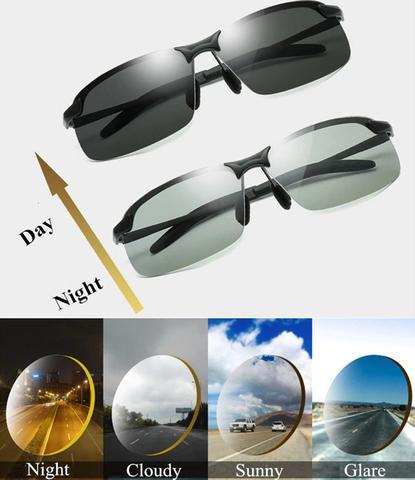 Óculos de Sol Fotocrômico com Lente Polarizada