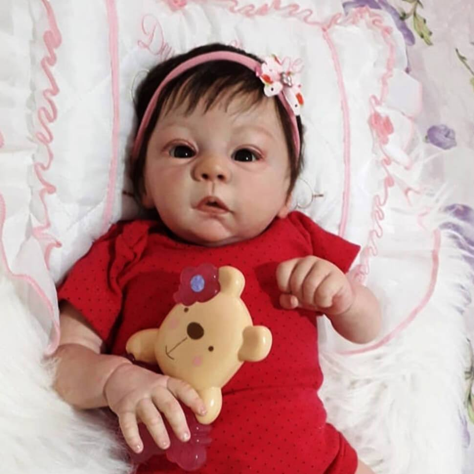 16 Soft silicone reborn baby doll toys lifelike 40cm