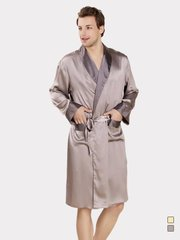 19 Momme Flower Printed Silk Robe For Men | Two Colors Selected、Real Silk Life