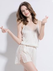 19 Momme White Silk One-Piece Suit、Real Silk Life