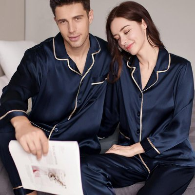 22 Momme Classic Silk Pajamas Set For Couple、Real Silk Life