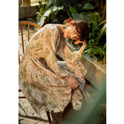 French Design Flower Print Silk Dress、Real Silk Life