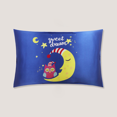 Baby Owl Single Side Mulberry Silk Pillowcase For Kids Envelope Closure、Real Silk Life