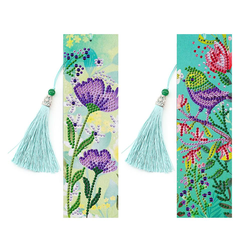 Peggybuy coupon: 2pcs Flowers-DIY Creative Diamond Tassel Bookmark