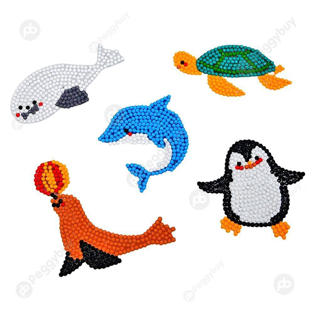 Peggybuy coupon: Sea Animal-DIY Creative Diamond Sticker