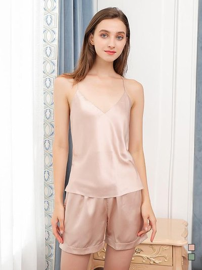 22 Momme Basic Silk Camisole Set | Multi-Colors Selected、Real Silk Life