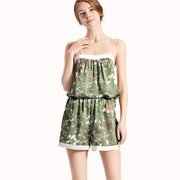 22 Momme High Quality Women's Chic Printed Short Silk Camisole Set、Real Silk Life