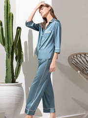 25 Momme Women's Mode Silk Pajamas Set (Wearable outside)、Real Silk Life