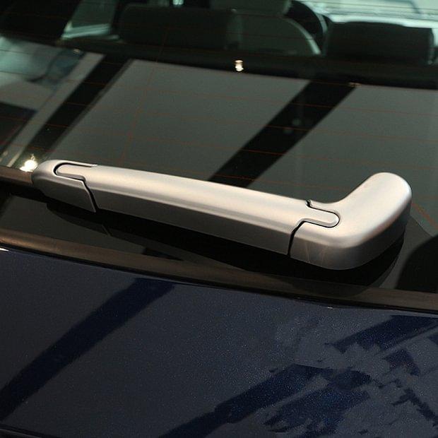Carbon Fiber Car Rear Window Wiper Cover Trim for Jaguar F-pace X761 2016-2017