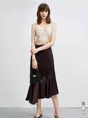 High Quality Lace Flower Silk Camisoles丨Multi Colors Selected、Real Silk Life