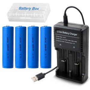 4pcs Imr 7v Batteries Charger With Led For 18650 Battery Aa Ion Rechargeable Display Aaa Greenred Li And 3 wkiulXTOPZ
