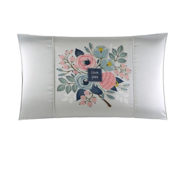 Double-Sided Elegant Printed Silk Pillowcase、Real Silk Life