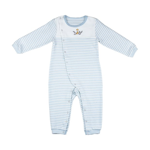 Tongtai Unisex Baby Rompers Long Sleeve Cartoon Animals Checkered Stripes Baby Bodysuit