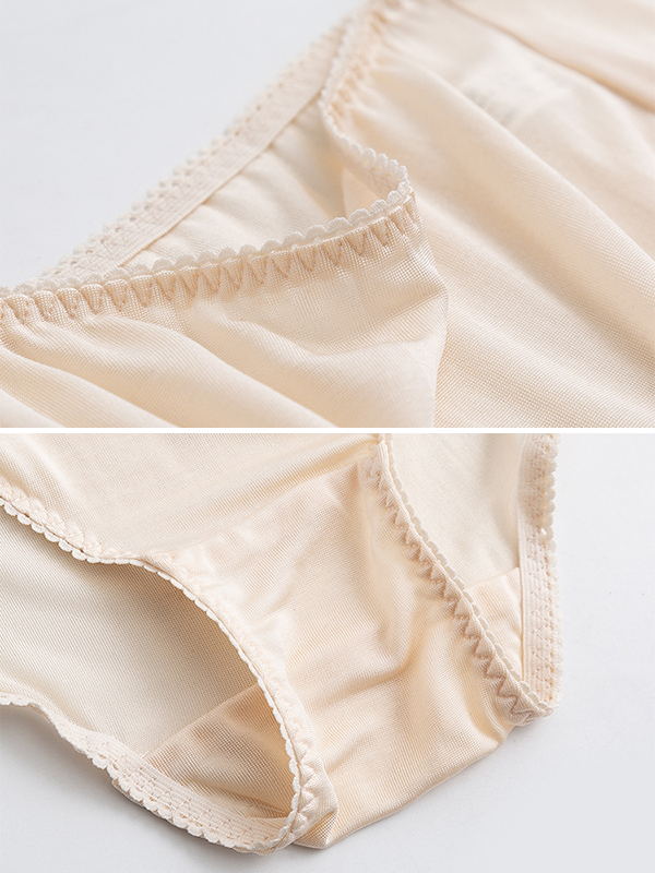 Basic Mid Wasit Silk Panty 3 Pack、Real Silk Life