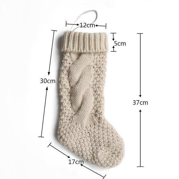 Christmas Knitting Twist Candy Gift Bag Decoration Socks