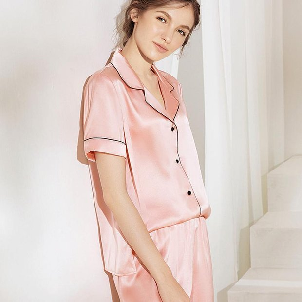 19 Momme Women's Chic Silk Pajamas Set Two Colors Selected、Real Silk Life