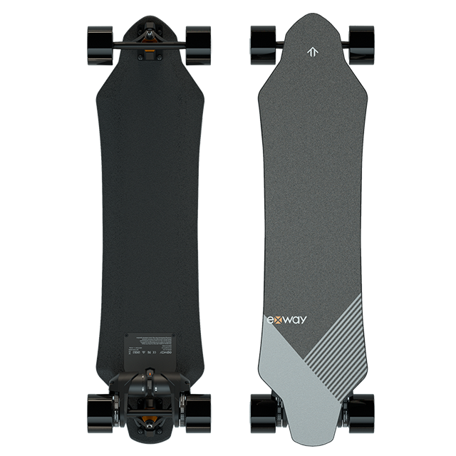 Exway X1 Pro Intelligent Electric Skateboard Longboard With Dual Hub Motors Four Wheels For Adults Teens Youths