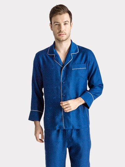 22 Momme High Quality 2020 Design Silk Pajamas Set For Men、Real Silk Life
