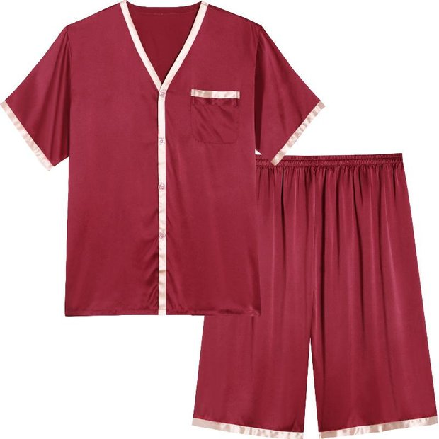 19 Momme Summer Short Pajamas Set For Men | Three Colors Selected、Real Silk Life
