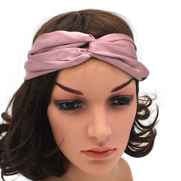 19 Momme Crossed Silk Headband、REAL SILK LIFE