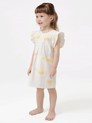 55% Mulberry Silk Lovely Printed Silk Dress For Girls、REAL SILK LIFE