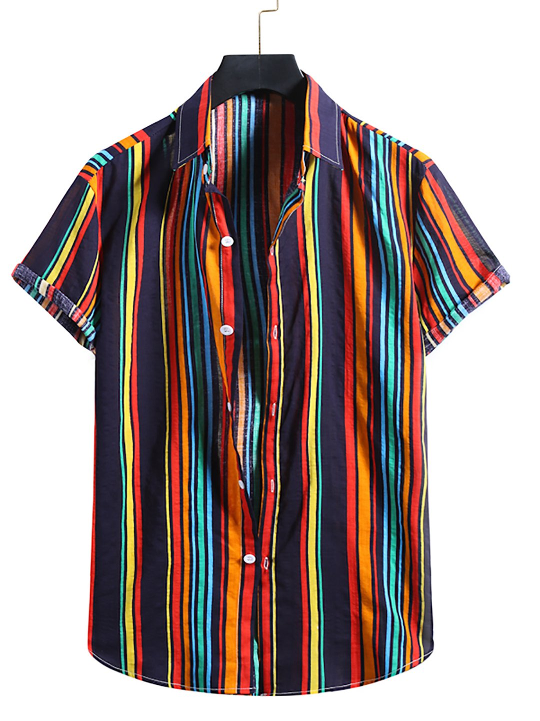 Mens Printed Holiday Short Sleeve Shirts / [viawink] /