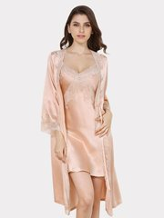 19 Momme Women's Lacey Silk Robe、Real Silk Life