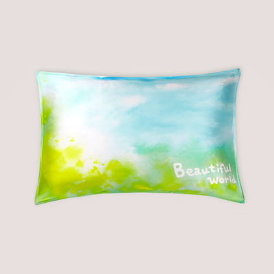 Beautiful World Single Side Silk Pillowcase、Real Silk Life
