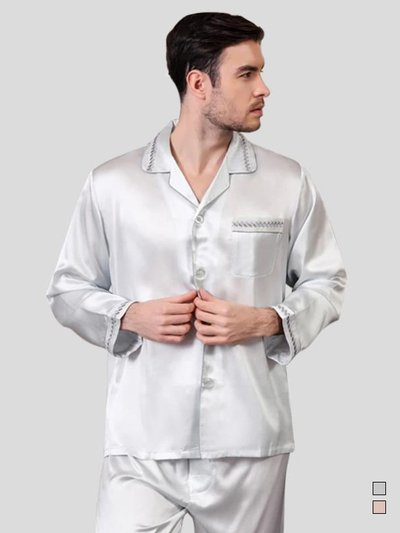 25 Momme Luxury Silk Pajamas Set for Men、Real Silk Life
