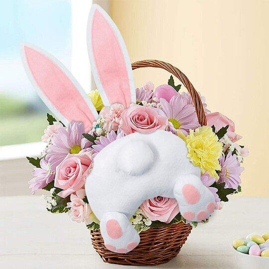 Bunny Wreath Attachment Bunny Butt And Ears Set Bunny Butt And Ears For Wreath Bunny Butt For Wreath Bunny Butt And Ears