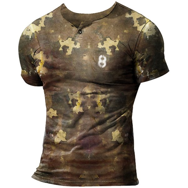 Men's Camouflage Outdoor Casual T-shirt Tactical Short Sleeve Top / [viawink] /