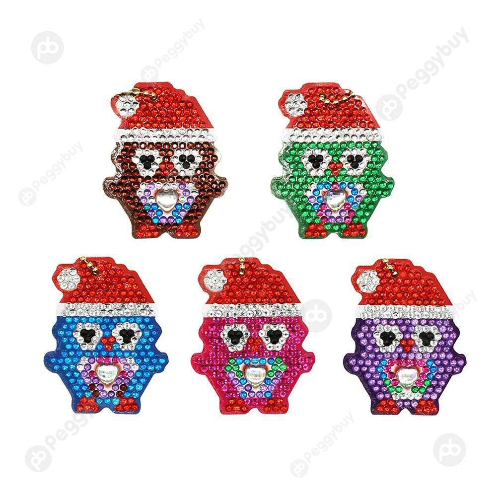 Peggybuy coupon: 5pcs Xmas Penguins-DIY Creative Diamond Keychain