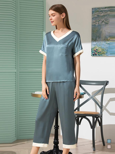 19 Momme Loose Silk Pajamas Set、Real Silk Life