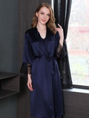 Monogrammed 30 Momme Luxury Women's Long Silk Robe、Real Silk Life