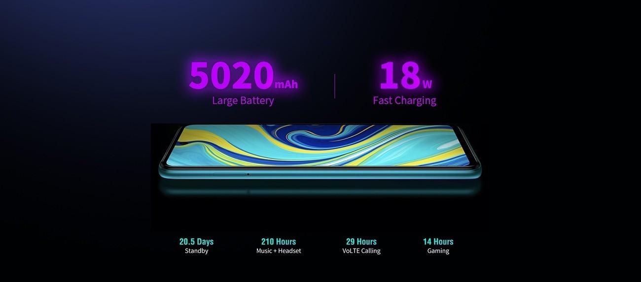 Redmi Note 9S Smartphone Quad Camera 4GB + 64GB Versión de la UE - Azul Aurora / Blanco Glaciar / Gris Interestelar
