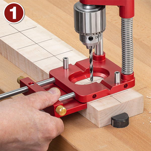 Woodpeckers Auto-Line Drill Guide Fence