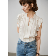 Ruffled Sleeves Silk Blouse 丨 Two Colors Selected、Real Silk Life