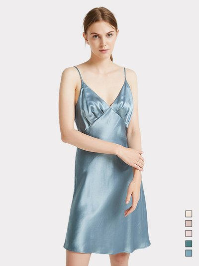 19 Momme Luxury Sexy V Neck Silk Nightgown | Multi-Colors Selected、Real Silk Life